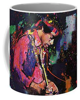 Jimi Hendrix II Coffee Mug by Richard Day
