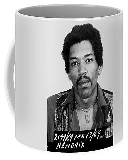 Jimi Hendrix Mug Shot Vertical Coffee Mug
