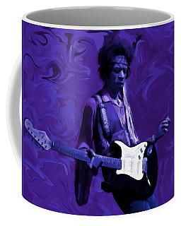 Coffee Mug featuring the painting Jimi Hendrix Purple Haze P D P by David Dehner