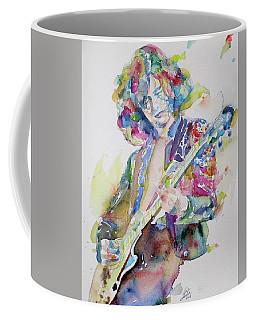 Jimmy Page - Watercolor Portrait.2 Coffee Mug