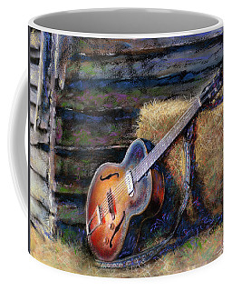 Coffee Mug featuring the painting Jim's Guitar by Andrew King