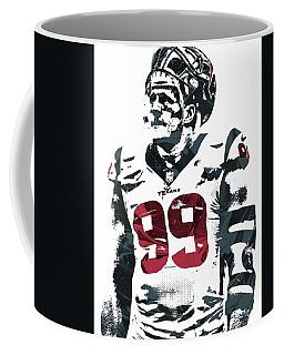 Jj Watt Houston Texans Pixel Art 4 Coffee Mug by Joe Hamilton
