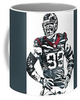Jj Watt Houston Texans Pixel Art 5 Coffee Mug by Joe Hamilton