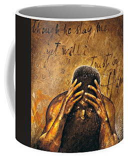 Coffee Mug featuring the painting Job by Christopher Marion Thomas