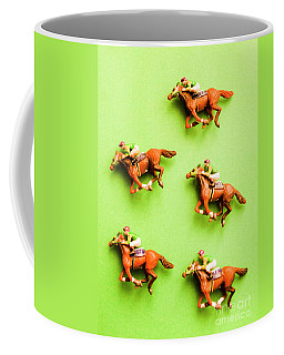 Jockeys And Horses Coffee Mug