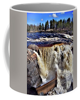Jockfall, Waterfall In The North Of Sweden Coffee Mug