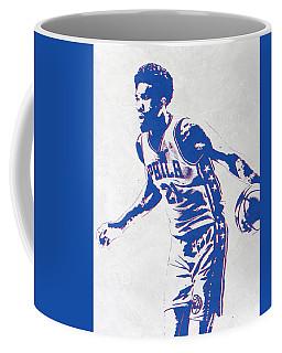 Joel Embiid Philadelphia Sixers Pixel Art Coffee Mug