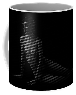 Johanna Behind Blinds Coffee Mug