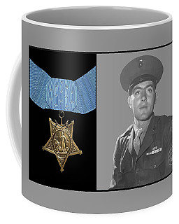 John Basilone And The Medal Of Honor Coffee Mug