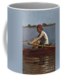 John Biglin In A Single Scull, 1874  Coffee Mug