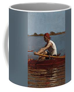 John Biglin In A Single Scull Coffee Mug