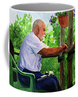 John Cleaning The Rifle Coffee Mug by Donna Walsh