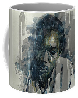 Coffee Mug featuring the mixed media John Coltrane  by Paul Lovering