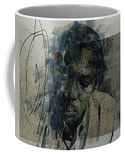 Coffee Mug featuring the mixed media John Coltrane / Retro by Paul Lovering