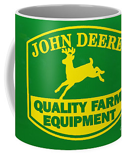 John Deere Farm Equipment Sign Coffee Mug