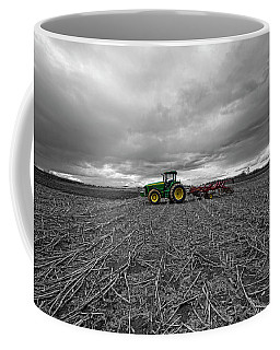 John Deere Tractor On The Farm Coffee Mug