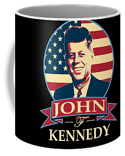 John F Kennedy American Banner Pop Art Coffee Mug