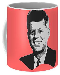 John F Kennedy Black And White Pop Art Coffee Mug