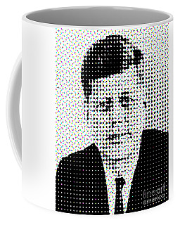 John F Kennedy In Dots Coffee Mug