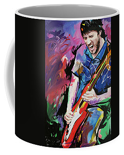 Coffee Mug featuring the painting John Frusciante by Richard Day