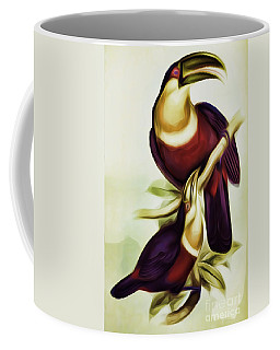 John Gould And Edward Lear Family Of Toucans Interpreted Coffee Mug