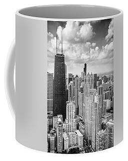 John Hancock Building In The Gold Coast Black And White Coffee Mug