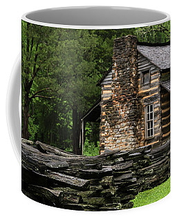 Coffee Mug featuring the photograph John Oliver Cabin by Andrea Silies