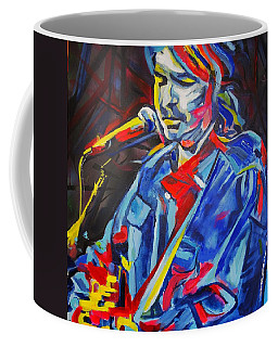 Coffee Mug featuring the painting John Prine #3 by Eric Dee