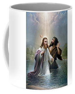 John The Baptist Baptizes Jesus Christ Coffee Mug