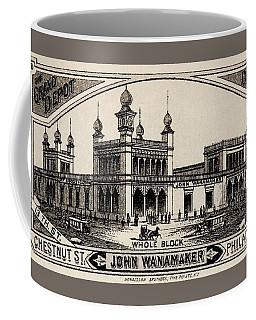 Coffee Mug featuring the drawing John Wanamaker Store Philadelphia Circa 1875 by Peter Gumaer Ogden