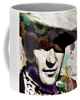 John Wayne Watercolor Pop Art Painting By Robert R Giant Cowboy 2017 Coffee Mug