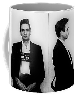 Johnny Cash Mug Shot Horizontal Coffee Mug by Tony Rubino