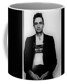 Johnny Cash Mug Shot Vertical Coffee Mug