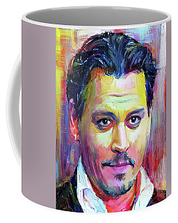 Johnny Depp Colors Portrait Coffee Mug