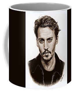 Johnny Depp Sepia Coffee Mug