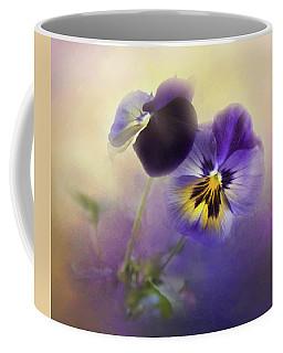 Johnny Jump Up Coffee Mug by Theresa Tahara