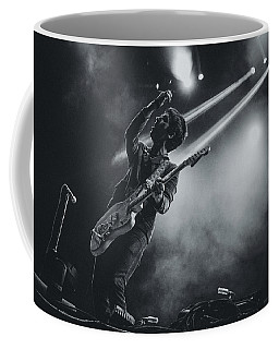 Johnny Marr Playing Live Coffee Mug by Marco Oliveira