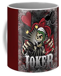 Joker Poker Skull Coffee Mug