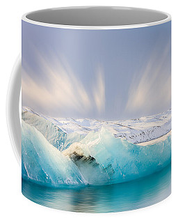 Coffee Mug featuring the photograph Jokulsarlon Glacier Lagoon by Susan Leonard