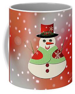 Coffee Mug featuring the photograph Jolly Snowman Snowy Dreams by Rockin Docks Deluxephotos