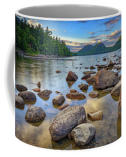 Jordan Pond And The Bubbles Coffee Mug by Rick Berk