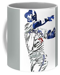 Coffee Mug featuring the mixed media Jose Bautista Toronto Blue Jays Pixel Art 2 by Joe Hamilton
