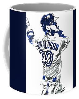 Josh Donaldson Toronto Blue Jays Pixel Art Coffee Mug by Joe Hamilton