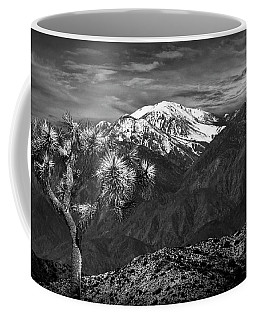 Coffee Mug featuring the photograph Joshua Tree At Keys View In Black And White by Randall Nyhof