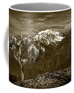 Coffee Mug featuring the photograph Joshua Tree At Keys View In Sepia Tone by Randall Nyhof