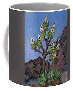 Coffee Mug featuring the painting Joshua Tree In Bloom by Diane McClary