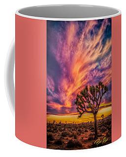 Joshua Tree In The Glowing Swirls Coffee Mug