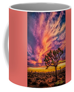 Joshua Tree In The Glowing Swirls Coffee Mug