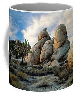 Joshua Tree Rock Formations At Dusk  Coffee Mug