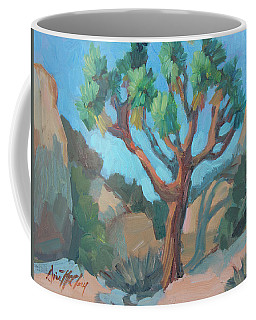 Coffee Mug featuring the painting Joshua Tree Study by Diane McClary